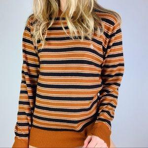Original Penguin Wool Cashmere Rust Stripe sweater